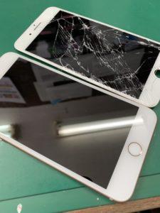 iPhone8plus画面割れ