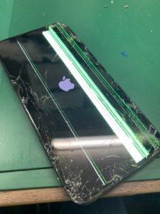 アイフォンX液晶割れ