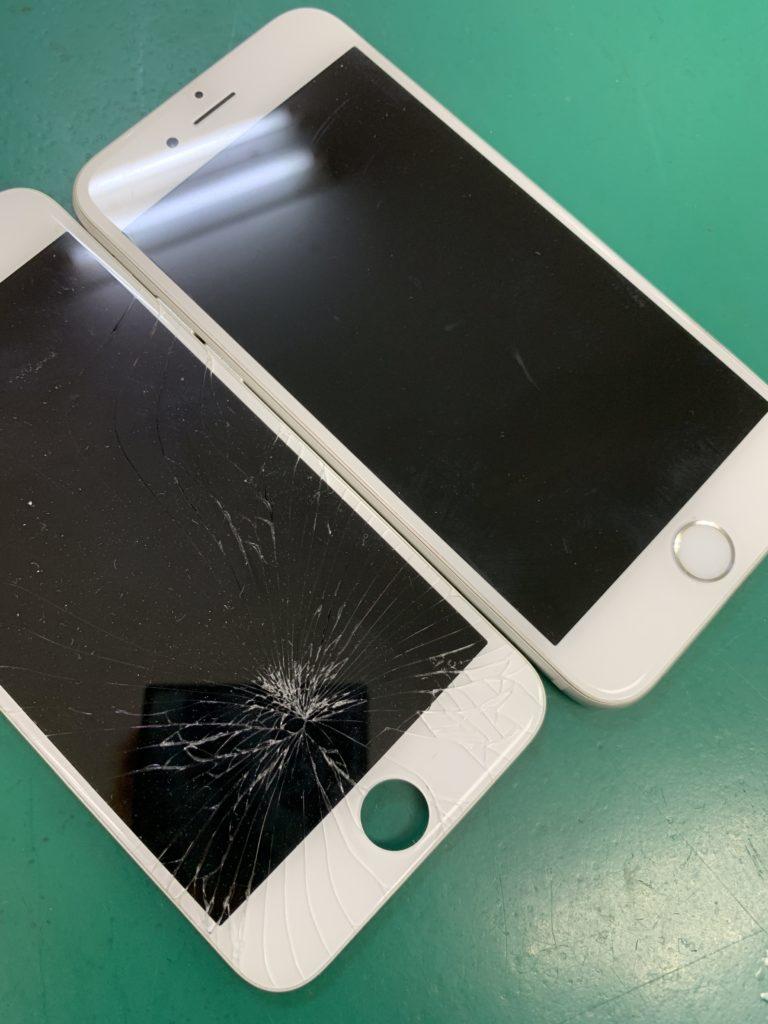 西葛西からiPhoneのガラス割れ修理画像
